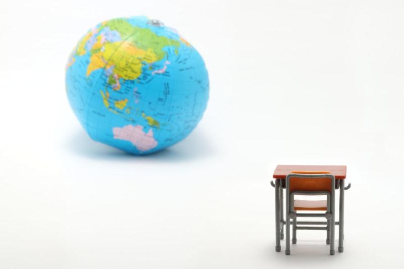 机と地球 ミニチュア 模型